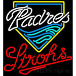 Strohs San Diego Padres MLB Beer Neon Sign