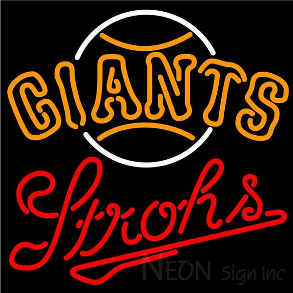 Strohs San Francisco Giants MLB Beer Neon Sign