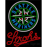 Strohs Seattle Mariners MLB Beer Neon Sign
