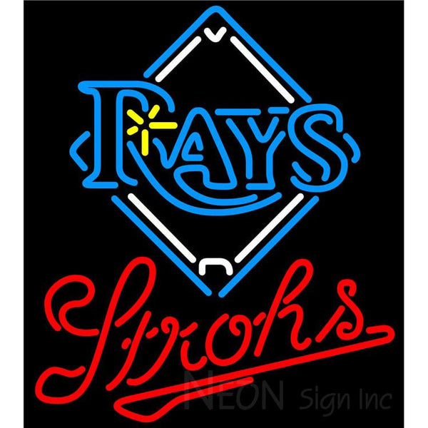 Strohs Tampa Bay Rays MLB Beer Neon Sign