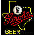 Strohs Texas Golf Neon Beer Sign