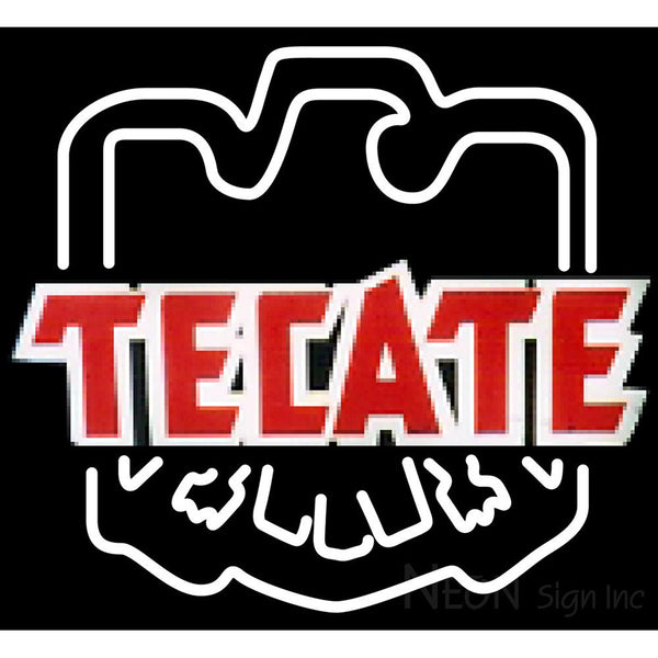 Tecate Eagle Print Logo Neon Beer Sign 24x22
