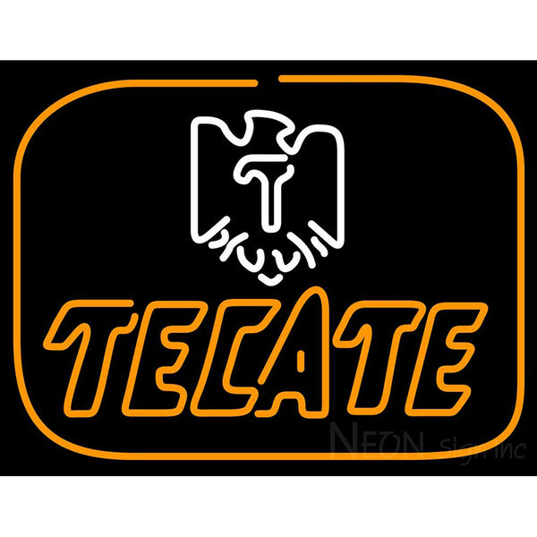 Tecate Golden Border Eagle Neon Beer Sign
