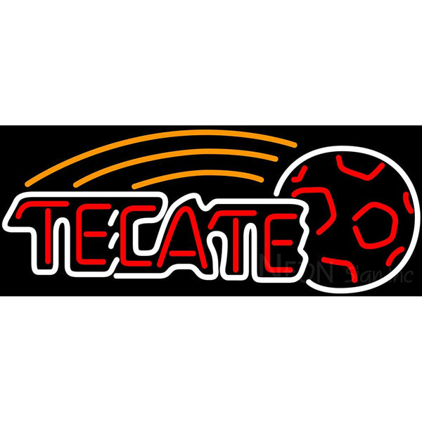 Tecate Soccer Ball Neon Beer Sign