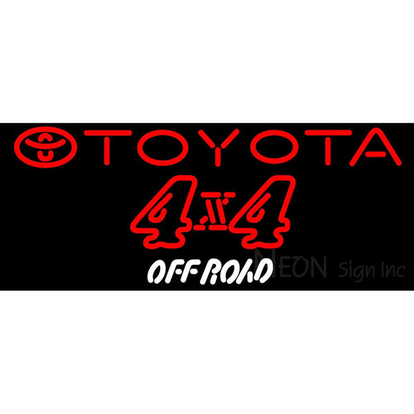 Toyota 4 X 4 Off Road Neon Sign
