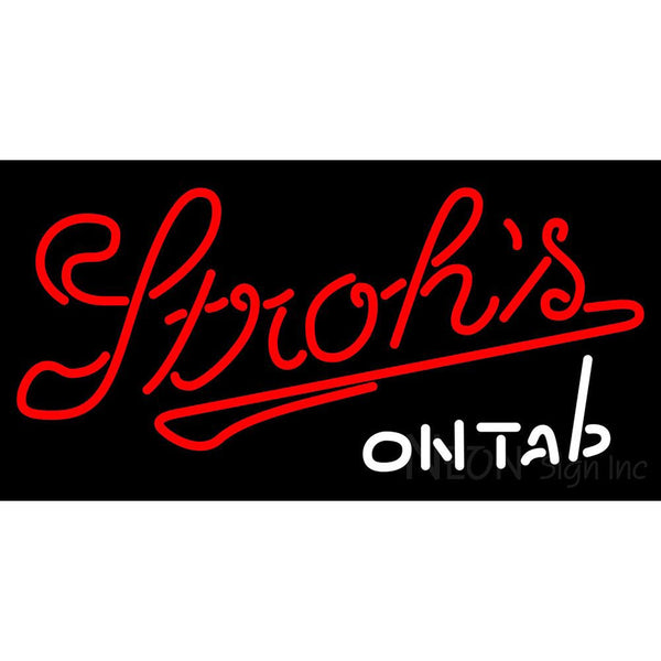 Vintage Strohs On Tap Neon Beer Sign