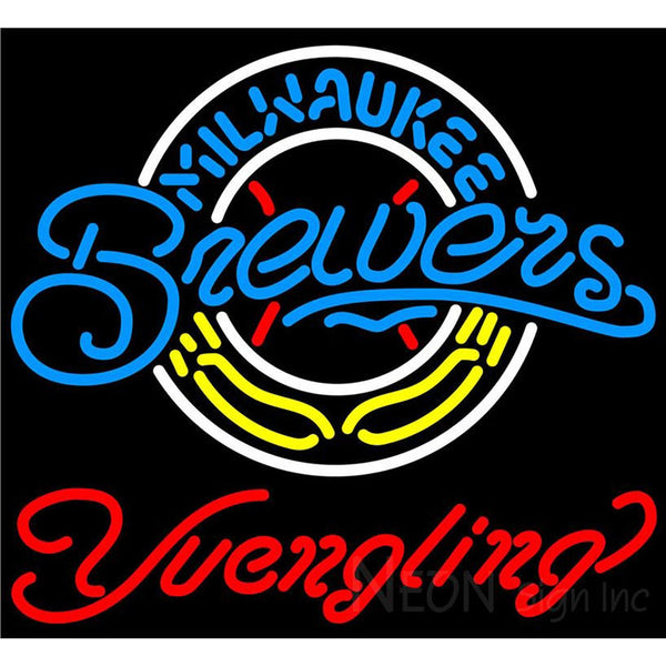 Yuengling Milwaukee Brewers MLB Beer Neon Sign
