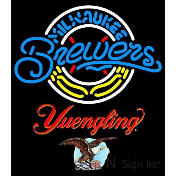 Yuengling Milwaukee Brewers MLB Neon Sign 3 0014