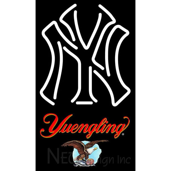 Yuengling New York Yankees White MLB Neon Sign 3 0016