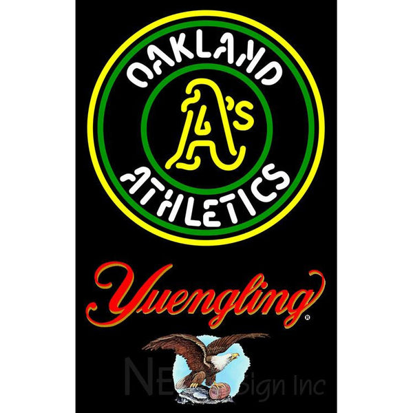 Yuengling Oakland As MLB Neon Sign 3 0014