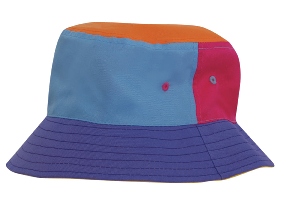 2640d9568a4 Childs Brushed Sports Twill Bucket Hat  13.80. Multi-Coloured Kids Bucket  Hat