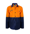 Kids Hivis Two Tone Long Sleeve Shirt