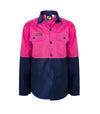 Girls Hivis Two Tone Long Sleeve Shirt