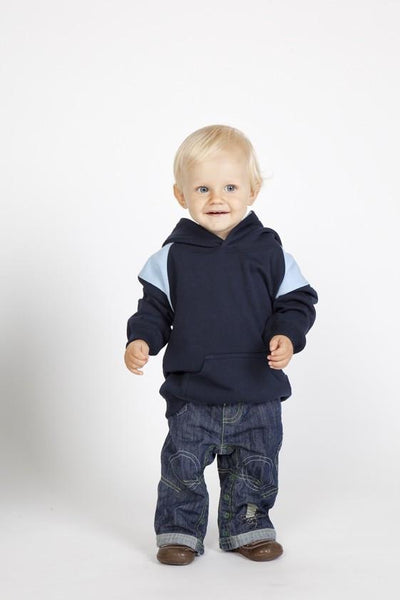 Ramo-Ramo Kids Shoulder Contrast Panel Hoodies--Uniform Wholesalers - 1