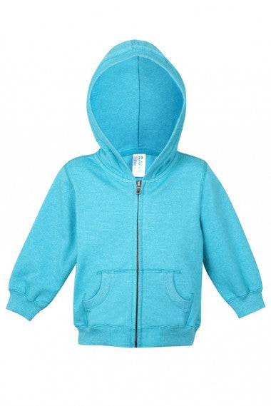 Babies Heather Full Zip Hooded Jacket