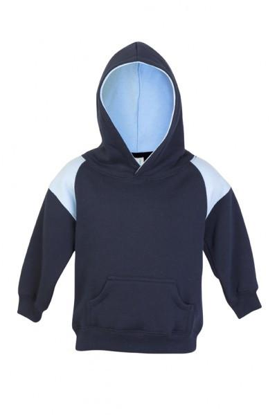 Ramo-Ramo Kids Shoulder Contrast Panel Hoodies-Navy/Sky / 00-Uniform Wholesalers - 6