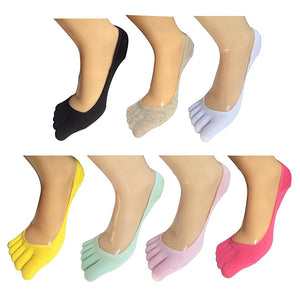 No Show Full Toes Socks for Women, Pack of 7 - Lantee Online Store