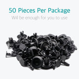 50 Pcs Auto Bumper Radiator Cover Grille Clips for Toyota 90467-07211 - Lantee Online Store