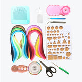 16 Set of Quilling Kits - 600 5mm Strips & 10 Set of Tools - Lantee Online Store