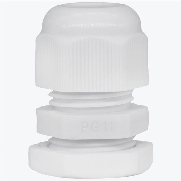 White PG 11 Cable Gland - 20 Pcs Waterproof Wire Glands - Lantee Online Store