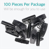 Lantee 100 Pcs Fender Flare Rocker Moulding Clips for Jeep 68039280-AA - Lantee Online Store