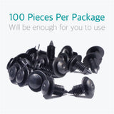 100 Pcs Trim Panel Retainer Clips for Ford Lincoln Mercury N805155-S - Lantee Online Store