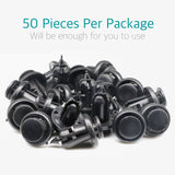 50 Pcs Bumper & Splash Shield Clips w/ Metal for Honda 91506-S9A-003