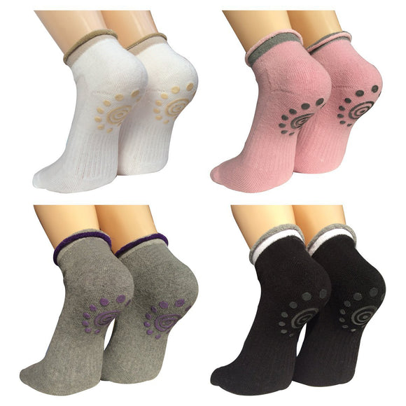 Non Slip Skid Yoga Pilates Socks with Grips for Women - Lantee Online Store