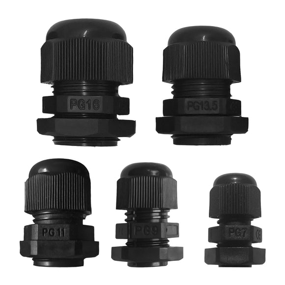 50 Pcs Waterproof Cable Glands Joints, PG7, PG9, PG11, PG13.5, PG16 - Lantee Online Store