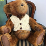 100% wool aran cable vest for teddy 18-24 inch tall