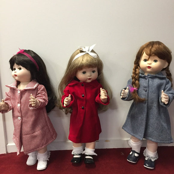 Chic doll coats in velvet, wool or houndstooth