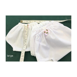 cotton and lace edged dolly knickers