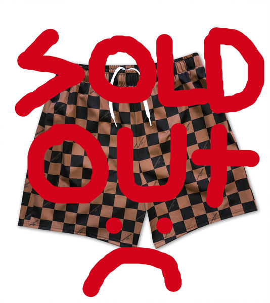 Athletic Checkerboard Shorts