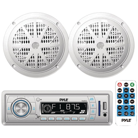 "Pyle Marine Single-din In-dash Mechless Am And Fm Receiver With Two 5.25"" Speakers"