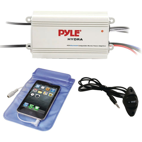 Pyle Hydra Series 200-watt Marine Amp Kit With Bluetooth (4 Channels)