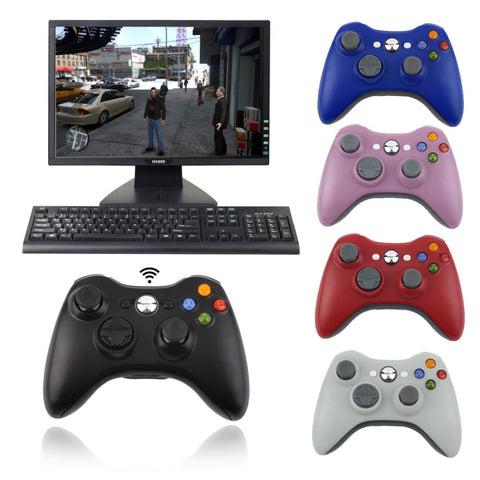 2017 Newest 2.4G Game Wireless Controller Gamepad Joystick & PC Receiver for XBOX360 Hot Sale 5 Colors for choice