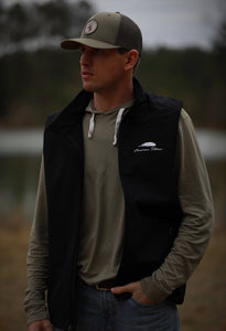 Black Softshell Vest — Feather