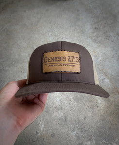 Brown/Khaki — Genesis 27:3 Hand Stitched