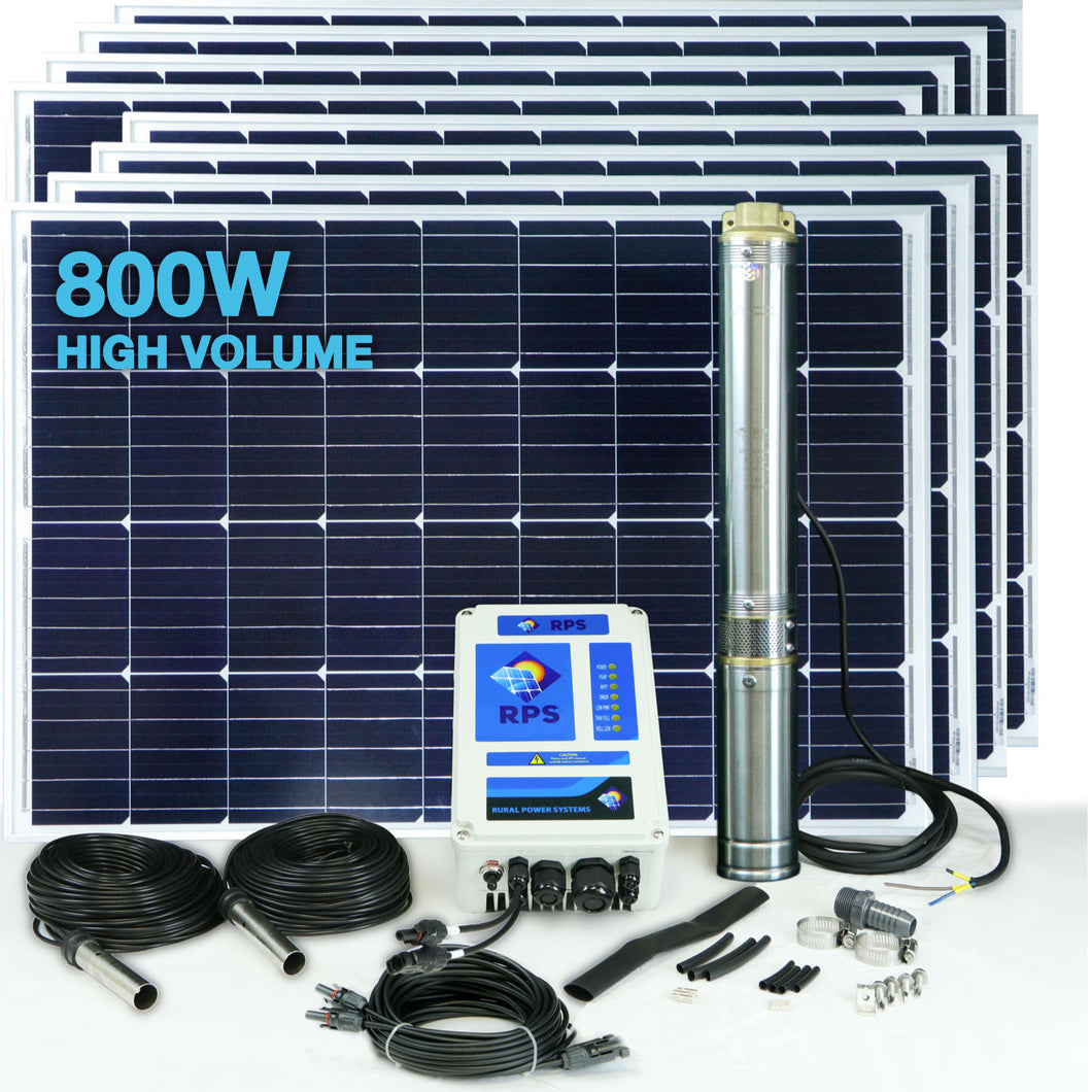 RPS 800V+ Solar Well Pump Kit (High Volume)