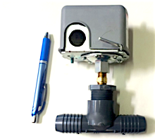 Reverse Action Pressure Switch for Solar Pumps (Optional Poly Pipe Barb Tee)