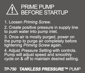 Tankless Pressure Pump System - NEW 2019