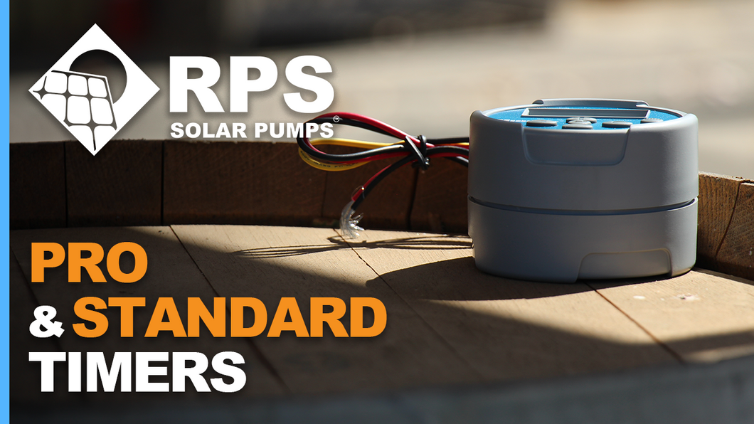 Battery Powered Timer Switches for Solar Pumps