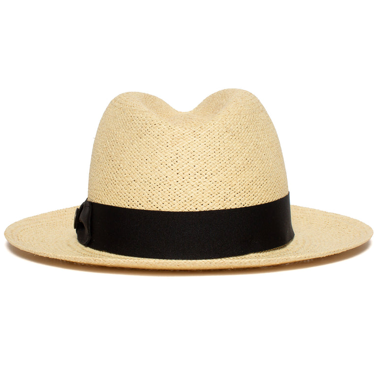 321ba7f7fa4e0 ... Goorin Bros. puerto lopez center dent wide brim straw fedora hat  Natural back view ...