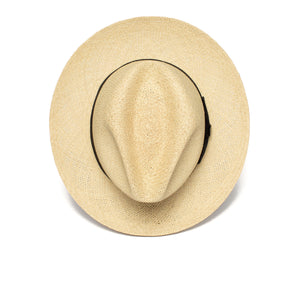 Goorin Bros. puerto lopez center dent wide brim straw fedora hat Natural top view