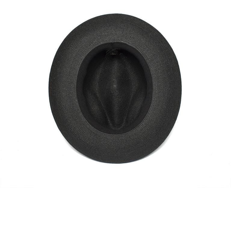 862d5267f84ac Goorin Bros. butch jackson center dent wide brim straw fedora hat Black  under view