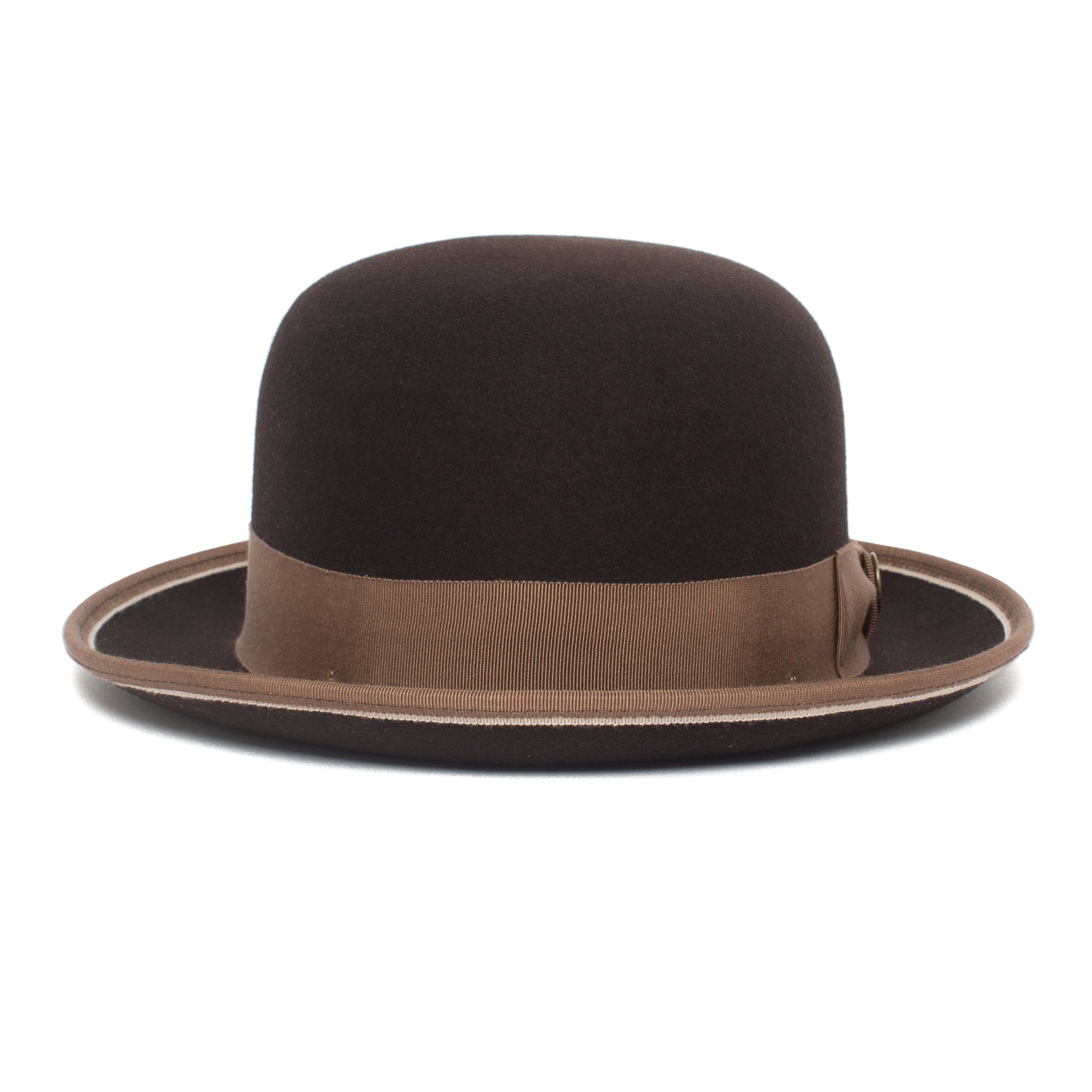 1f6e2e96766bf Goorin Bros. one eyed king wool bowler Brown front view