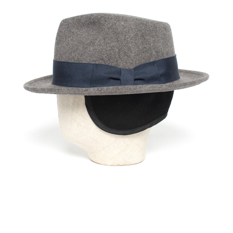efa2fb5825c91 ... Goorin Bros. radley teardrop medium brim felt fedora hat Grey back view  ...