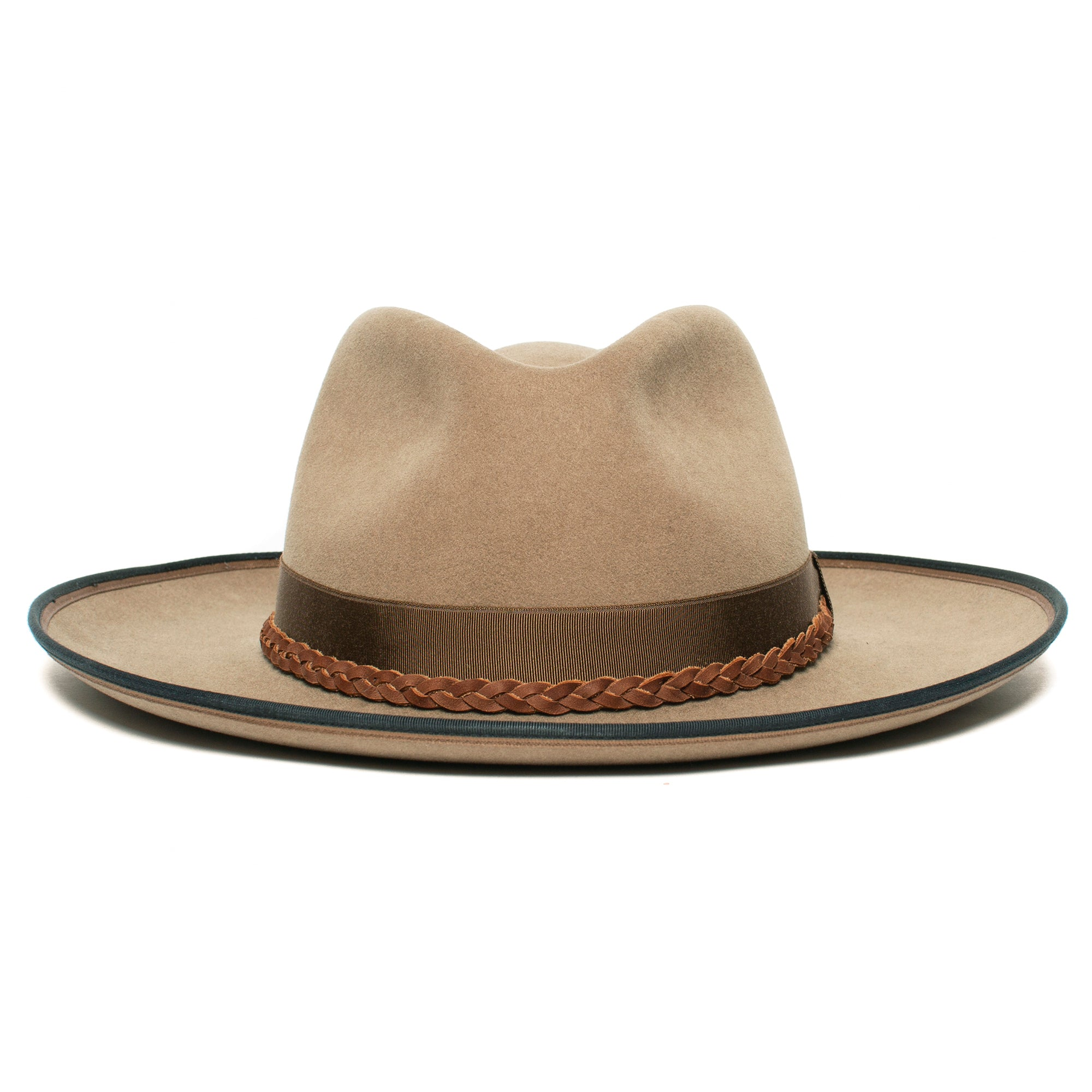 Goorin Bros. aw shoot wool wide brim fedora Tan front view