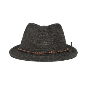 Goorin Bros. morning glory straw classic brim fedora Black front view