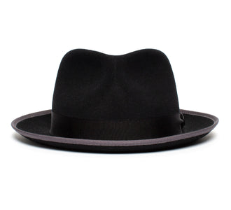 Goorin Bros. holiday wide brim wool fedora Black front view